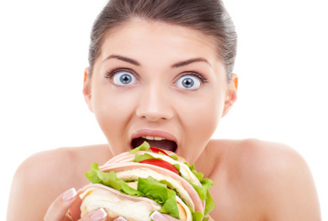 cara y hamburguesa