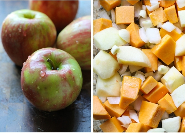 manzanas y calabaza